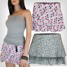 Unbranded Extra short, Micro-mini Floral Skirts for Women