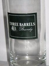 Three Barrels Brandy Sturdy Hotel Quality Heavy Base Glass 13cm High 5.75cm Top