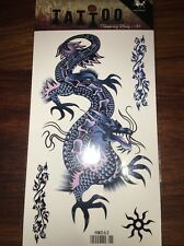 Chinese Dragon Temporary Tattoo (blue) - Perfect For Events, Parties Or Fun