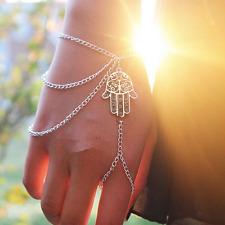 Fashion Bracelet Slave Chain Finger Ring Hand Harness Asymmetric Bangle Jewelry