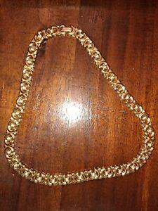 Vintage Avon Signed Gold Tone Link Necklace
