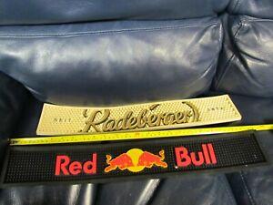 Set of 2 BAR RAIL RUBBER MATS Red Bull Redeberger