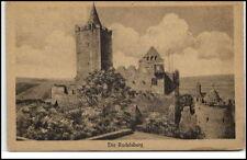 Rudelsburg Sachsen-Anhalt alte Postkarte ~1920/30 Partie an der Burg ungelaufen