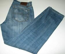 Men's Lucky Brand 34 X 32 Jeans 121 Heritage Slim Button Fly 100% Cotton