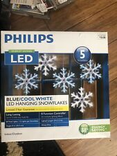 5 Cool White/Blue LED Snowflakes Christmas Light Lightshow w/ 7 Function