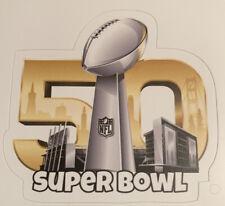 """Superbowl 50 Carolina Panthers Denver Broncos Sticker Decal NFL 3"""" x 2.9"""""""