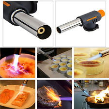 Auto Ignition Flamethrower Butane Burner Gas Torch for Camping Welding BBQ safe