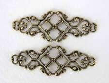 Antiqued Brass Ox Filigree Bar Connector Bracelet Blank 45mm flg0067