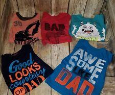 EUC Baby Boy's Lot 5 Piece Shirt Set Size 2T OshKosh Dad Monster