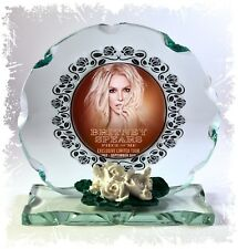 Britney Spears , Piece of Me, Cut Glass Round Plaque, Limited Edition  #4