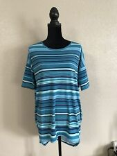 LuLaRoe Blue Striped Irma Size XXS
