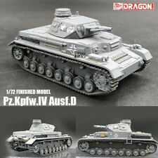 DRAGON WWII GERMAN Pz.Kpfw.IV Ausf.D 1/72 tank model finished non diecast