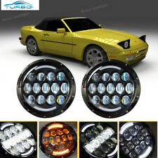 Porsche 944 Led Projector Headlight Hi/Low Beam DRL H4 Replace HID Halogen Xenon
