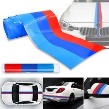 5'ft M-Colored Hood Roof Bumper Stripe Decal Sticker For BMW Exterior Decoration