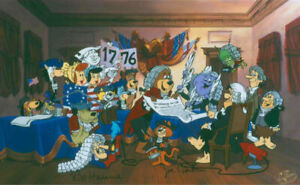 Hanna Barbera-I Do Declare- Limited Edition Cel Signed By Hanna and Barbera