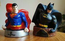Batman & Superman DC Comics Six Flags Collectors Souvenir Drink Top Cup Topper!