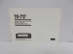 SANSUI TU-717 STEREO TUNER OPERATING INSTRUCTIONS