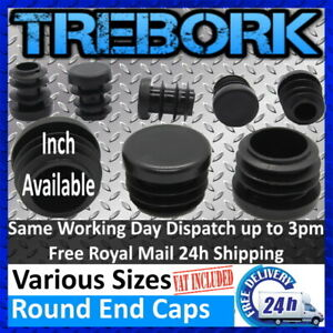Round Plastic End Caps Tubes Blanking Inserts Furniture Table & Chair Legs Feet