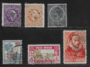 6 Dutch Indies Stamps from Quality Old Antique Album