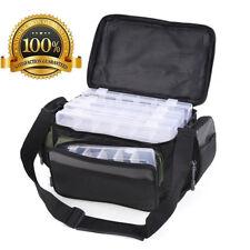 Fishing Tackle Bag Pack Waist Shoulder Bags + Fishing Lure Storage Box Case