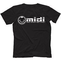 Midi T-Shirt 100% Cotton Synthesiser Analog Retro General