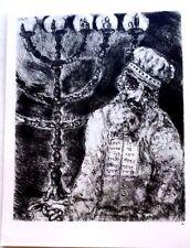 Marc Chagall offset lithograph Bible  paris maeght 1960 original  2 sided 146