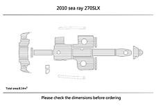 "2010 sea ray 270SLX Cockpit swimming platform Pads 1/4"" 6mm EVA  Teak Decking"