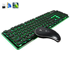 2.4G Wireless Gaming Keyboard + Mouse Rechargeable LED Backlit Usb Ergonomic
