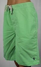 Ralph Lauren Green Swim Shorts Trunks Blue Pony NWT