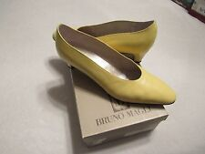 WOMENS VINTAGE BRUNO MAGLI HEELS SHOES SIZE 8.5 B YELLOW BOUTIQUE ITALY