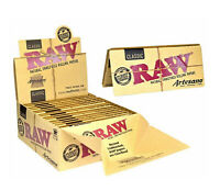 RAW ARTESANO CLASSIC King Size Slim Rolling Papers Roach Tips & Tray Paper