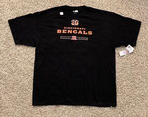 NWT Cincinnati Bengals NFL Team Apparel Men's Black Short Sleeve 2XL T-Shirt