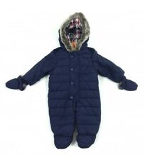 Ex John Lewis Boys Navy Blue Snowsuit Pramsuit & Gloves 0 3 6 9 12 18 24 RRP £30