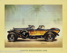 Poster Oldtimer Isotta Fraschini 1928 37,5x30,5 cm Oldtimerposter Autoposter car