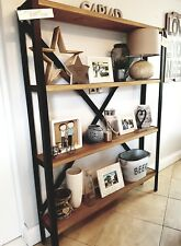 Metal Shelving Unit, Bookcase, Retro, Rustic, Ironwork (Handmade) Vintage.