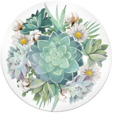 Succulents Glass Bird Bath with Metal Stand