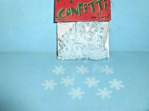 Snowflake Confetti White Mylar Plastic 14 gram bag Winter Christmas party