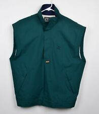 Zero Restriction Men's Sz Large GORE-Tex Green Half Zip Pullover Rain Golf Vest