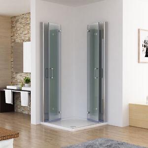 MIQU Duschkabine Eckeinstieg Dusche 180° Falttür Duschwand Duschabtrennung NANO