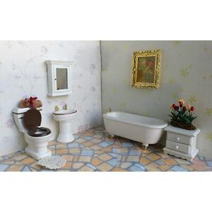 1/12 White Mirror Box Dollhouse Miniature Bathroom Furniture Decor