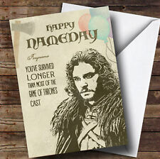 Got Jon Snow Name Day Game Of Thrones Personalised Birthday Card