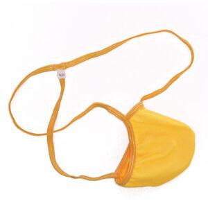 K179 Mens Pouch String Thong Bulge Enhancer Low Rise T Back orange etc.