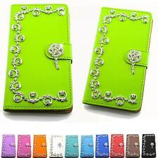 Strass Design Handy Tasche Bling Etui Schutz Hülle Flip Cover Glitzer Case B314