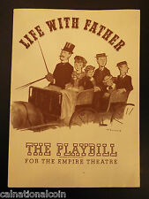 The Empire Theatre Life with Father Playbill 1944