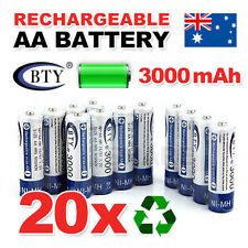 20x AA battery batteries Bulk Nickel Hydride Rechargeable NI-MH 3000mAh 1.2V