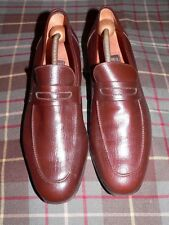 Vintage French Shriner Brown Calfskin Dress Penny Loafers, Made In Italy, Sz 10M