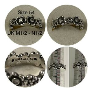 PANDORA CLEAR FLOWER RING SIZE 54 UK O - P 190122CZ DISCONTINUED