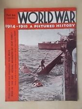 WORLD WAR 1914-1918 A PICTURED HISTORY No 54 WWI MAGAZINE - BATTLE AT MONS