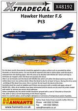 Xtra Decals 1/48 HAWKER HUNTER F.6 British Jet Fighter Part 3