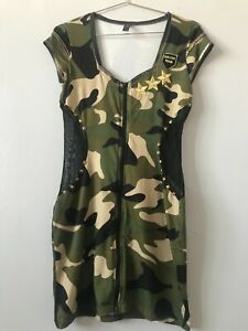 Ann Summers Army Camouflage Dress Size UK 8